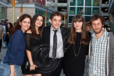 "HOLLYWOOD, CA - MAY 29:  (L-R) Actress Ione Skye, model Amy Ambrose, actor Charles Fleischer, filmmaker Rachel Fleischer and musician Ben Lee arrives at Hollywood 4WRD hosts a special benefit screening of ""Without a Home"" at ArcLight Hollywood on May 29, 2012 in Hollywood, California.  (Photo by Chelsea Lauren/WireImage)"