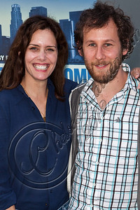"HOLLYWOOD, CA - MAY 29:  Actress Ione Skye (L) and musician Ben Lee arrive at Hollywood 4WRD hosts a special benefit screening of ""Without a Home"" at ArcLight Hollywood on May 29, 2012 in Hollywood, California.  (Photo by Chelsea Lauren/WireImage)"