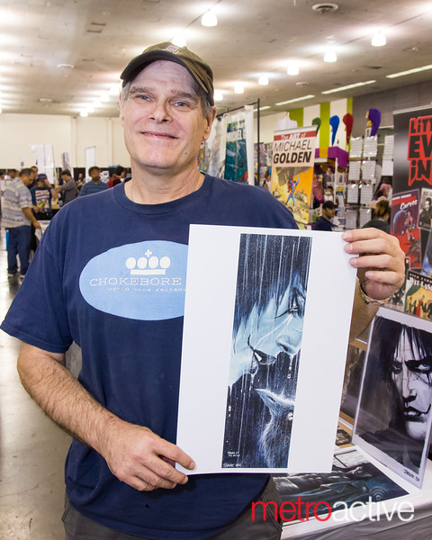 """The Crow"" comic book creator James O'Barr"