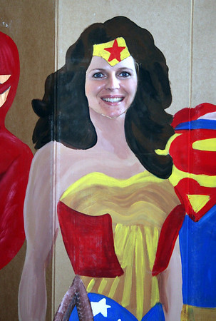 As you can tell I would not look good in Black hair. Me posing as Wonder Woman. I think I will keep my blond hair. :)