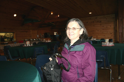 This year they had dinner the first night of the retreat. Mom in the dinning hall at Camp Lutherhaven.