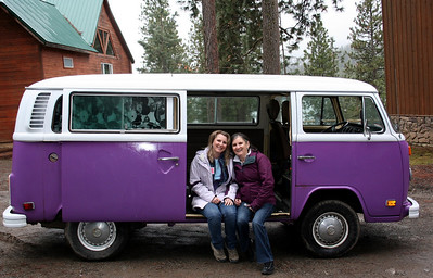 They had a purple bus that we could get our pictures taken in. The theme was Jounery On.