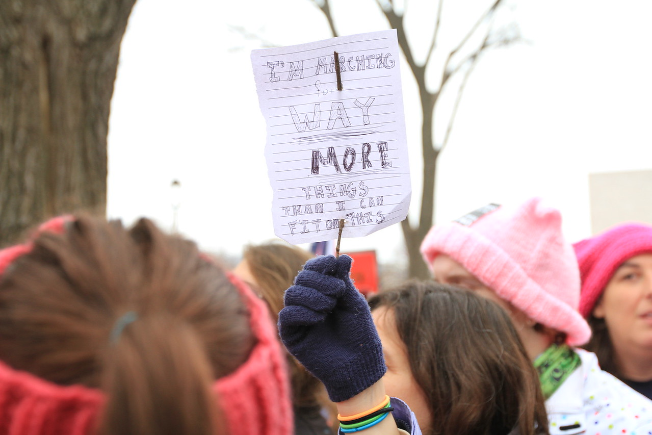 Even the smallest signs carried big messages.
