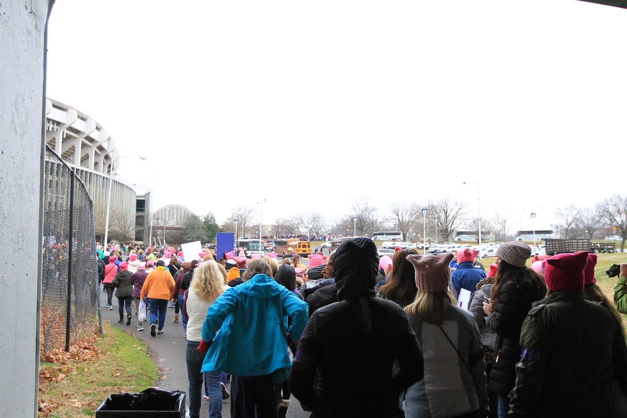While THE march didn't begin until 1:00pm, ladies waited no time in showing their support for a cause. The day felt like two or three marches.