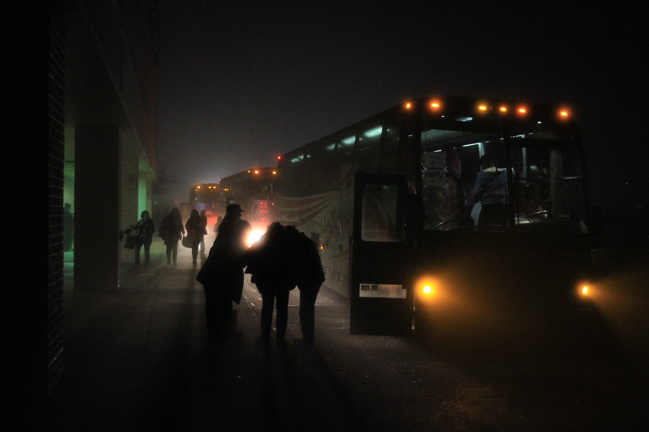4:30am - Pulling into the JCPenny parking lot in Staunton, we saw three (!) buses waiting to take us to Washington. We had women, and a few men, join us from all over the area, and as far away as North Carolina.