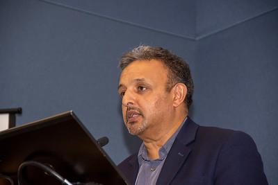 Sukh Johal introduces a speaker