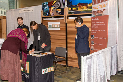 BC Wood team at their trade show booth