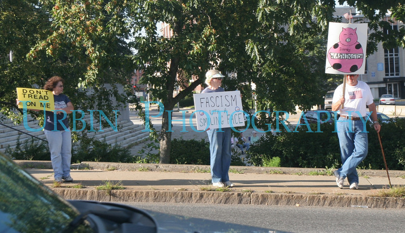 A Tea Party Protest in Worcester, MA on September 3, 2009.