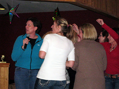 After bowling all the teams had to sing karaoke.