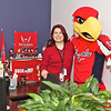 """Slapshot visits Carpathia Hosting brining a """"Mother's Day Gram"""" to CEO Peter Webber  : The reddest cube in the office"""