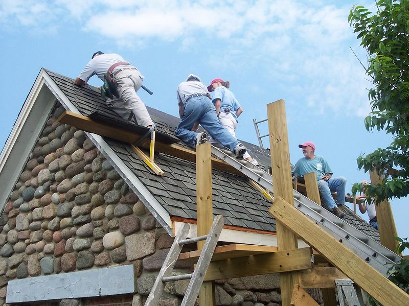 Roofing workcrew. Tell them Carol, how it is done!