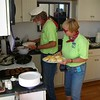 Keepers John and Darlene are busy in the kitchen.