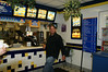 James looking like a KID IN A CANDY STORE. Instead he was in a White Castle Burger Joint.