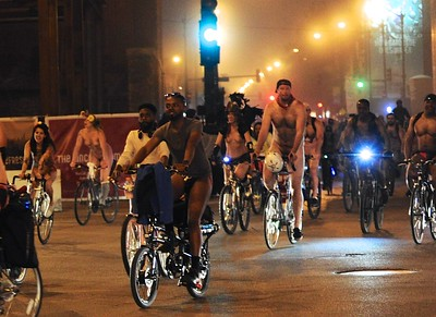Chicago world naked bike ride 2018