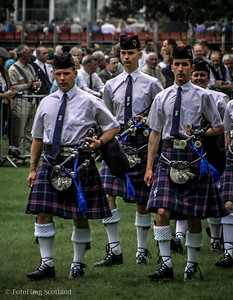 Members of Nairn Pipeband