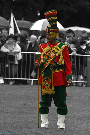 Colourful Drum Major<br /> World Pipeband Championshipd 2007