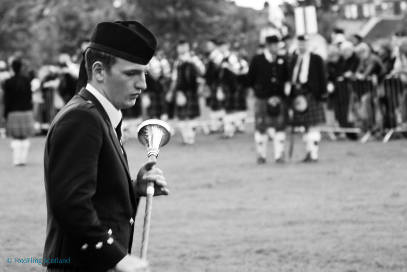 Drum Major at World Pipeband Championships 2007