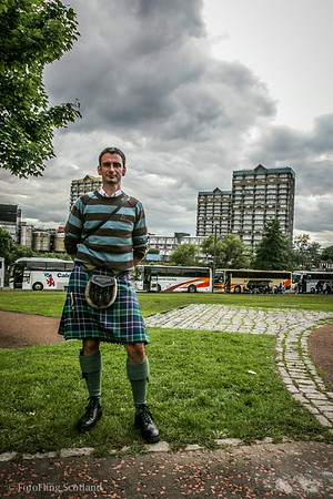 Spectator at World Pipeband Championships