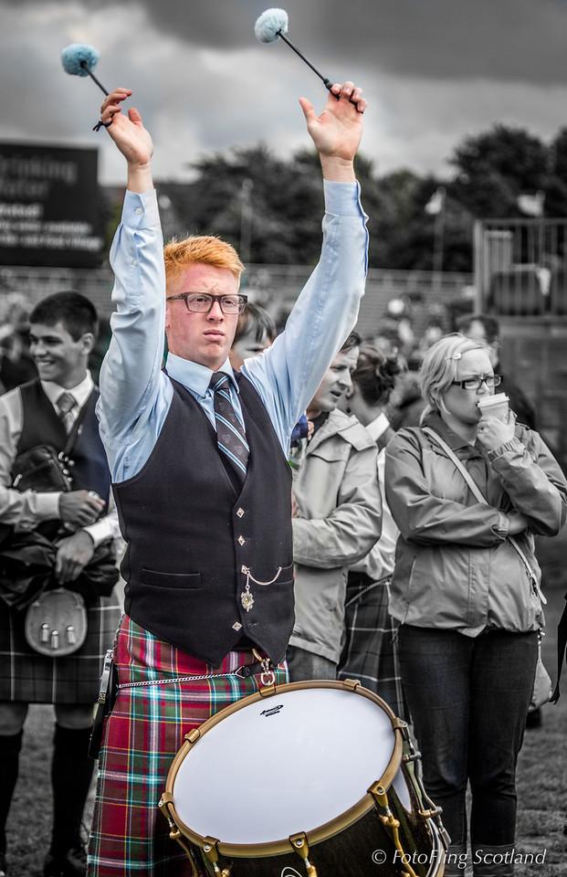 Tenor Drummer, Drum Major David McCormick