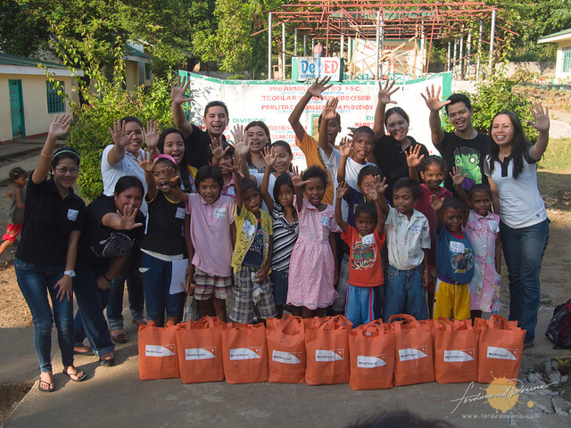 Sponsored kids with the World Vision Staff