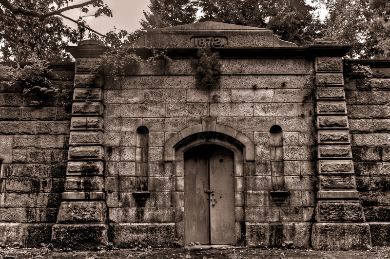 Sepia of large Mausoleum
