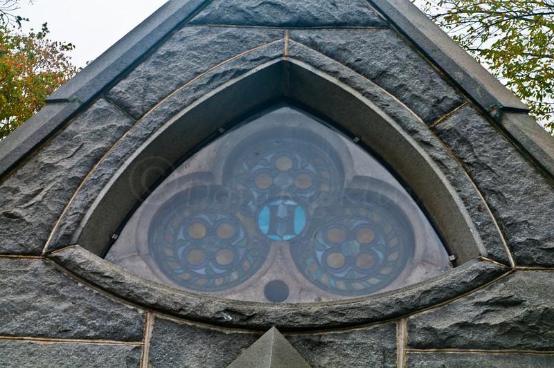 Stainedglass window of  Mausoleum