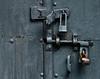 Resecured mausoleum door.