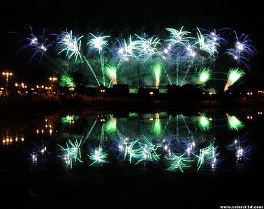 World fireworks championship 2010, Qurum natural park, Muscat, Oman. Day 6: Lacroix-Ruggieri