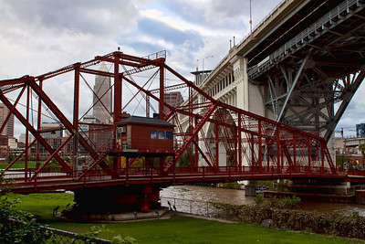 Swing Bridge on the Muddy Cuyahoga River