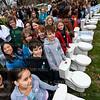 © Tony Powell. World's Longest Toilet Queue. March 23, 2010