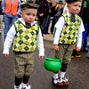 "Grant Niemann, 3, and brother, Blake, 5, prepare themselves to hand out candy to the parade crowd.<br /> The annual World's Shortest St Patrick's Day Parade was held in front of Conor O'Neills on Sunday.<br /> For more photos and a video, go to  <a href=""http://www.dailycamera.com"">http://www.dailycamera.com</a>.<br /> Cliff Grassmick / March 14, 2010"