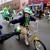 "The Thursday Night Cruisers get a few hands from the crowd.<br /> The annual World's Shortest St Patrick's Day Parade was held in front of Conor O'Neills on Sunday.<br /> For more photos and a video, go to  <a href=""http://www.dailycamera.com"">http://www.dailycamera.com</a>.<br /> Cliff Grassmick / March 14, 2010"