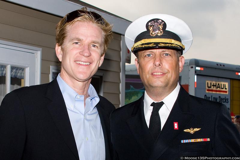 Matthew Modine with AAM volunteer Fred Seitz III