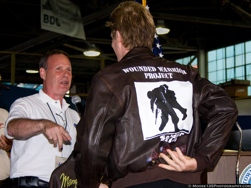 The Airpower Museum presented Mr. Modine with a custom painted jacket, sporting the WWP logo.