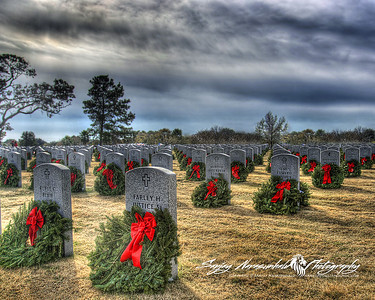 Over 500 Motorcycle riders supported the Wreaths Across America to hang 31,000 Wreaths.