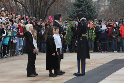a second wreath laying by a Virginia public school