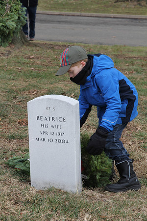 Will lays a wreath