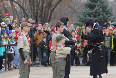 one wreath was sponsored by a Virginia Boy Scout troop