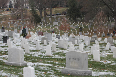 there weren't enough wreaths to cover the entire cemetary, so some people took wreaths to specific graves