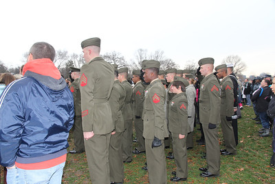many groups came in uniform to lay wreaths