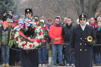 laying of a wreath at the Tomb of the Unknown Soldier