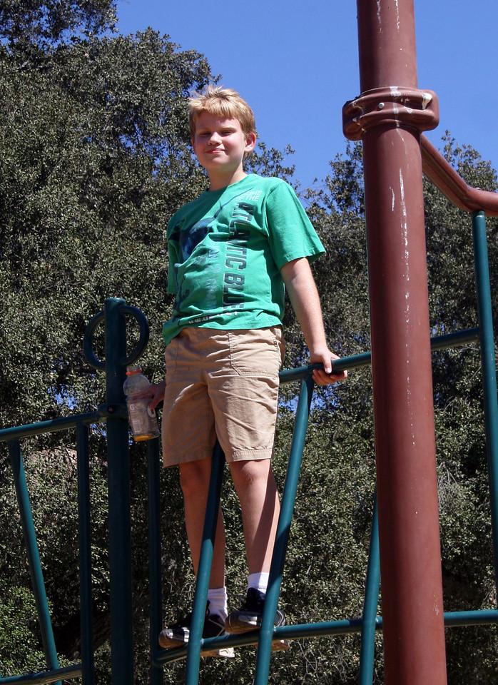 Devan on the playground 2