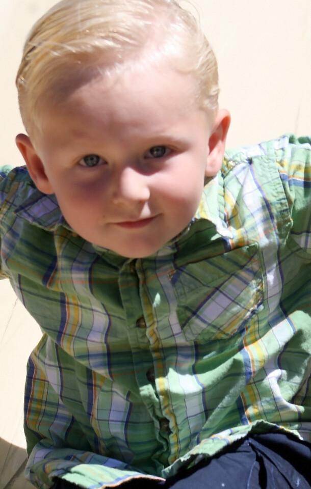 Birthday boy Wyatt slides A