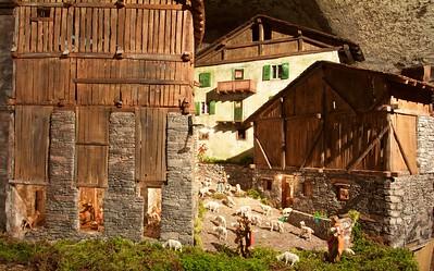Presepi a Vione (Vione Nativity Scene): almost real rural composition.