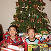 JML Xmas morning with their Santa gifts