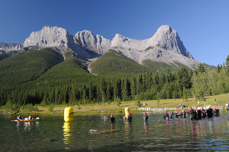 Race morning, 2010 Canmore Xterra.  Wow!