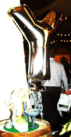 Debbie Blank   The Herald-Tribune<br /> A huge Y-shaped metallic balloon greeted guests as they entered Walhill Farm's barn.