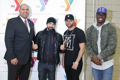 YMCA Newark Holiday giveaway: True Life, Quincy Enuwa, and Paul Malignaggi