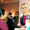 Mayor Lisa Wong, left, talks with Jennifer Gordon, associate executive director of the YMCA of Central Mass Montachusett Community Branch, Thursday night at the Fitchburg Art Museum.<br /> SENTINEL & ENTERPRISE / BRETT CRAWFORD