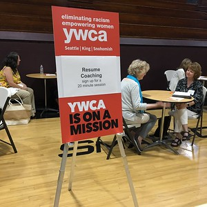 Resume coaching at YWCA Women RISE Career Workshop